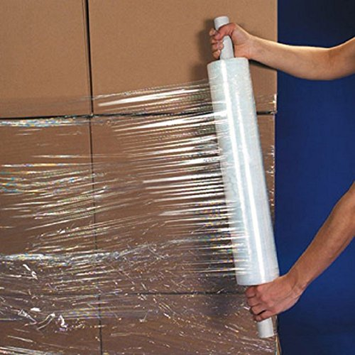 uBoxes Stretch Wrap 20' Roll with Handle 1000' 80 Gauge