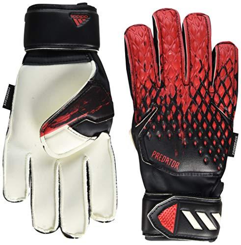 adidas Predator 20 Match Fingersave Soccer Goalkeeper Gloves Black/Active Red 7