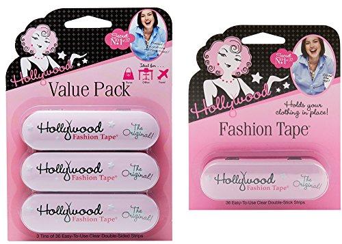 Hollywood Fashion Secrets Fashion Tape Tin, 4 Pack x 36 ct tin