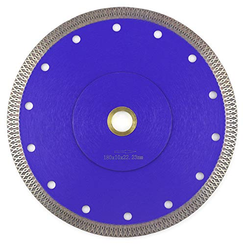 Tile Blade 7 Inch,Stylish Y&I Porcelain Blade Super Thin Ceramic Diamond Saw Blades for Grinder Dry or Wet Tile Cutter Disc With Adapter 7/8',20mm,5/8 Inch Abor (7 inch)