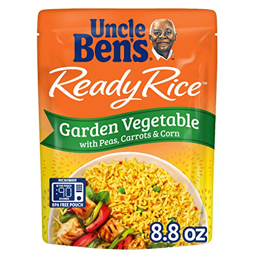 Uncle Ben's Ready Rice: Garden Vegetable Rice, Ready to Heat 8.8 Oz Pouches, Pack of 6