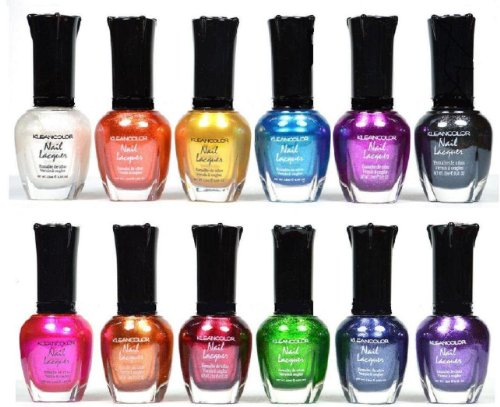 Kleancolor Nail Polish - Awesome Metallic Full Size Lacquer Lot of 12-pc Set Body Care / Beauty Care / Bodycare...