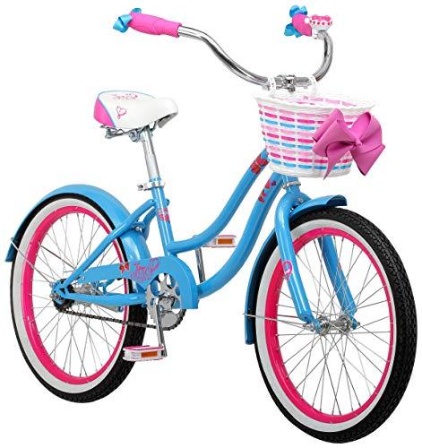 Nickelodeon's JoJo Siwa Girls Cruiser Bike with 20-Inch Wheels in Light Blue and Pink