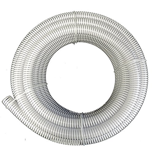 1' ID x 25 ft HydroMaxx Clear Flexible PVC Suction and Discharge Hose with White Reinforced Helix