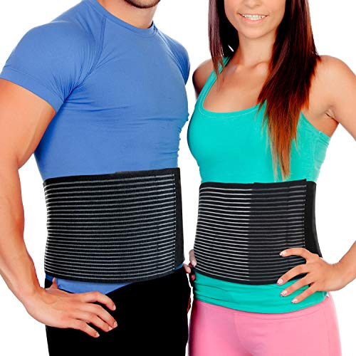 Abdominal Binder Postpartum Belly Wrap – Tummy Tuck Belt Provides Comfortable Stomach Compression to Help Umbilical Hernia or Post Partum Girdle Binders for Healing and Support (L/XL)