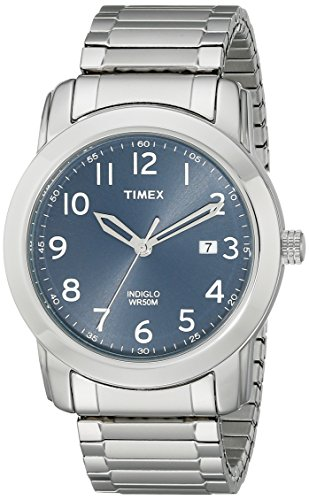 Timex Men's T2P132 Highland Street Silver-Tone Stainless Steel Expansion Band Watch