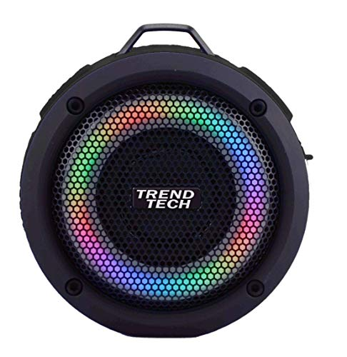 Dorm Blaster Super Sound Waterproof LED Speaker - Light up, All Weather Bluetooth Speaker - Superior Sound and Quality (Black)