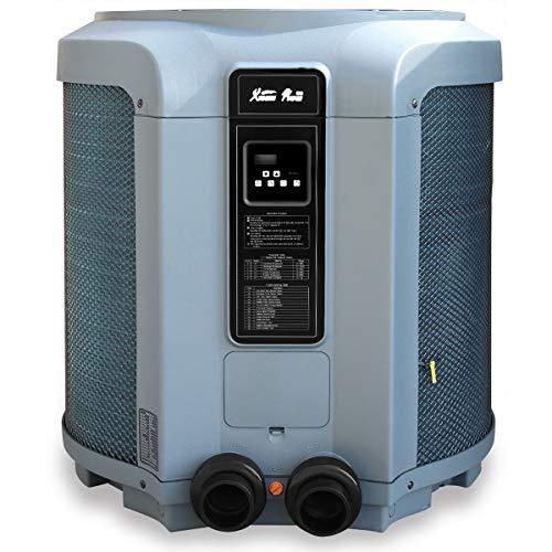 XtremepowerUS 53,000 BTU Heat Pump Titanium Super Quiet Swimming Pool Heat Pump Pool & Spa Heater Digital Display