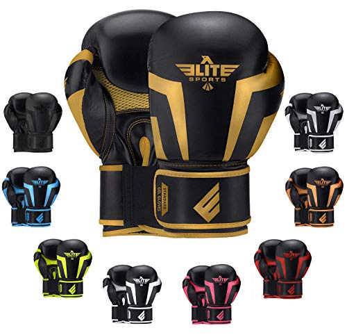 2020 Pro Boxing Gloves for Men & Women, Boxing Training Gloves, Kickboxing Gloves, Sparring Gloves, Heavy Bag Gloves for Boxing, Kickboxing, Muay Thai, MMA (Golden 4 Oz)