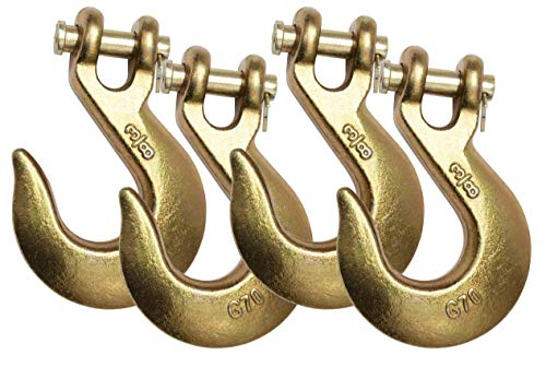 Mytee Products (4 Pack) 3/8' Clevis Slip Hook G70 Tow Chain Wrecker Truck Trailer Tie Down