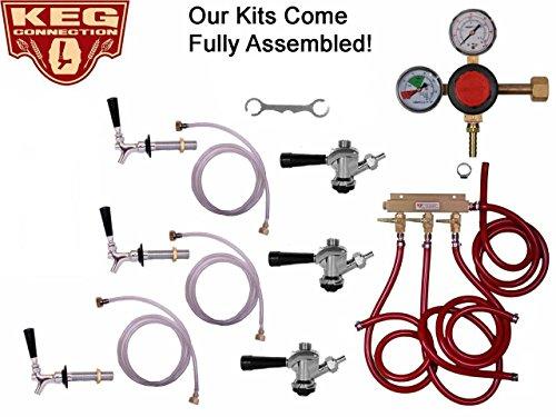 3 Faucet Refrigerator Keg Kit Commercial Tap, Taprite Regulator