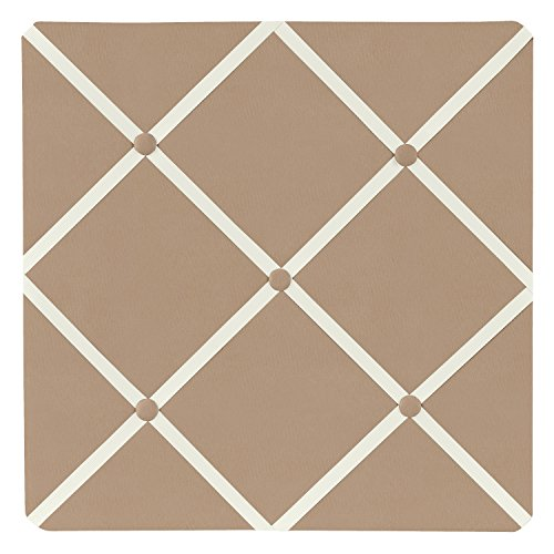 Taupe Fabric Memory/Memo Photo Bulletin Board by Sweet Jojo Designs
