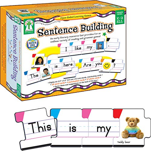 Carson Dellosa  Sentence Building Literacy Resource with 86 Cards for Language Arts For K, 1st, & 2ND Grade & Ell