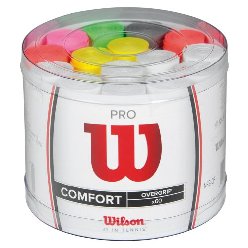 Wilson Pro Overgrip 60 pack Tennis Grip - Assorted, 60 pack