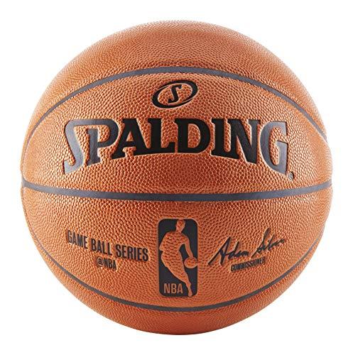Spalding NBA Replica Indoor/Outdoor Game Ball, Orange, Size 7/29.5 Inch