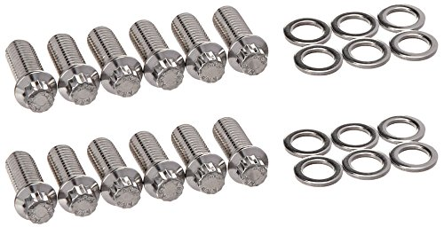 ARP 4001209 Header Bolts With 12-Point Heads, Polished Stainless Steel, Set Of 12