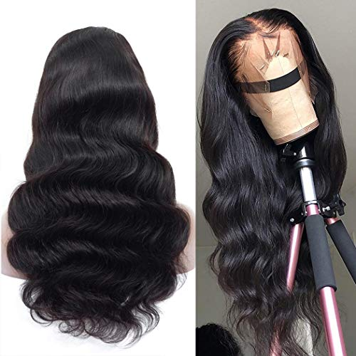 Megalook 360 Lace Frontal Wig Pre Plucked Hairline with Baby Hair 18inch Body Wave Human Hair Wigs Lace Front Wigs Human Hair Natural Hairline 150% Density