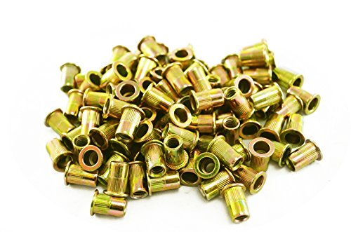 Astro Pneumatic Tool RN14 100-Piece 1/4-20 Steel Rivet Nuts