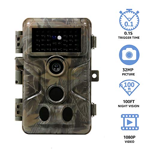 Meidase S3 Pro Trail Camera, 32MP 1080P with Advanced Night Vision, Fast 0.1s Motion Activated, IP66 Waterproof for Game Trail, Deer Hunting, Wildlife Monitoring and Home Security
