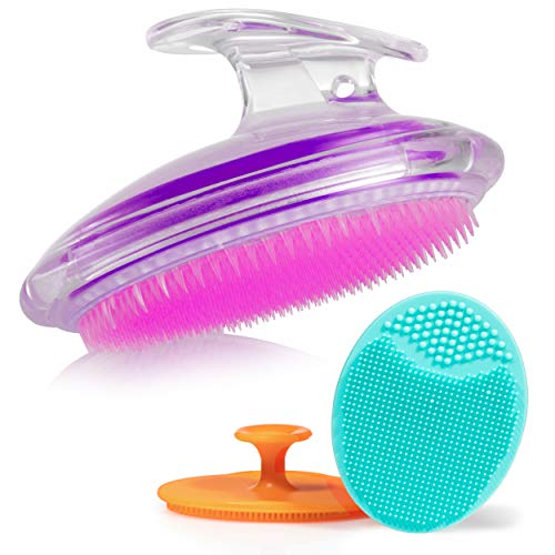 Exfoliating Brush For Razor Bumps and Ingrown Hair Treatment, Silicone Face Scrubbers, Face and Body Exfoliator Set - Perfect for Dry Brushing, by Dylonic