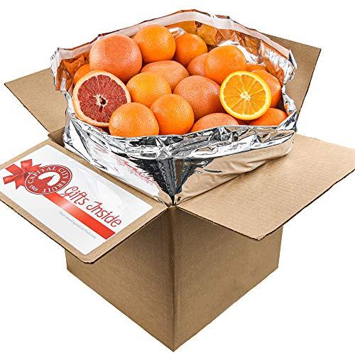 Gourmet Fruit Basket, (20lbs) Mixed Citrus Box with Oranges and Grapefruit (30 pieces)