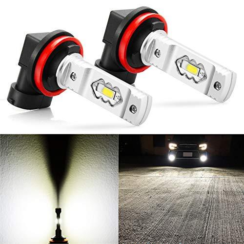 JDM ASTAR Extremely Bright High Power H11 H8 H16 LED Fog Light Bulbs, Xenon White