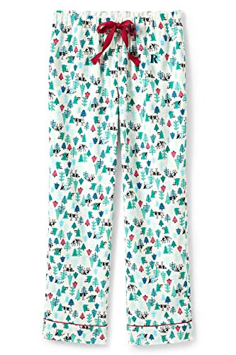 Lands' End Women Flannel Pant Peeking Cows Petite X-Large