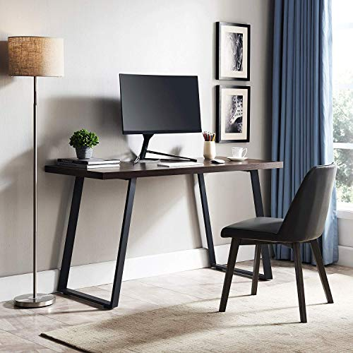 AMOAK Computer Desk 47'', Modern Writing Desk, Simple Study Table, Industrial Office Desk, Sturdy Laptop Table for Home Office, Brown