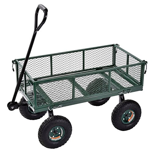 Sandusky Lee CW3418 Muscle Carts Steel Utility Garden Wagon, 400 lb. Load Capacity, 21-3/4' Height x 34' Length x 18' Width