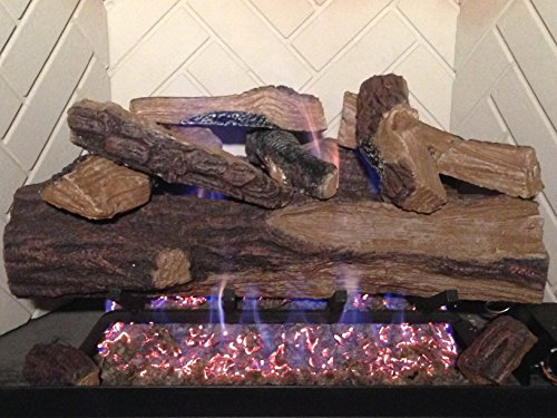 Sure Heat VMO24RNG Vented Gas Log Set NG/LP with Remote Control Pilot, 24', Appalachian Oak