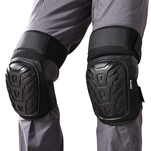 Professional Knee Pads for Work - Heavy Duty Foam Padding Gel Construction Knee Pads with Strong Double Straps – Comfortable Knee Protection for Indoor and Outdoor Use (Thigh High)