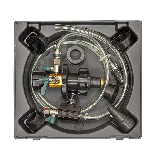 OEMTOOLS 24444 System Refiller Kit, 5 Eliminate Trapped Air, and Test Heating Core Lines for Leaks | Universal Adapters to Fit Most Radiator Necks and Coolant Reservoirs
