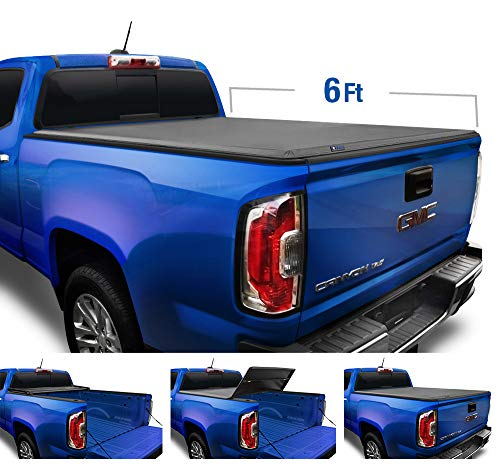 Tyger Auto T3 Soft Tri-Fold Truck Bed Tonneau Cover for 2004-2012 Chevy Colorado/GMC Canyon; 2006-2008 Isuzu I280 Fleetside 6'1' Bed TG-BC3C1002