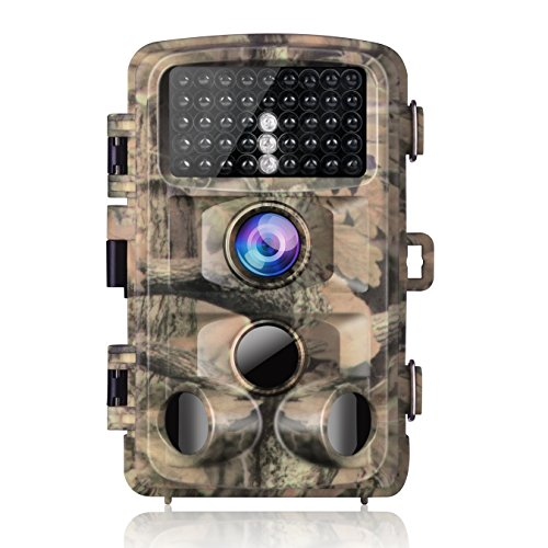 "2020 UpgradeCampark Trail Camera-Waterproof 16MP 1080P Game Hunting Scouting Cam with 3 Infrared Sensors for Wildlife Monitoring with 120°Detecting Range Motion Activated Night Vision 2.4"" LCD 42pcs"
