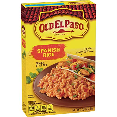 Old El Paso Sides Spanish Rice, 7.6-Ounce Boxes (Pack of 12)