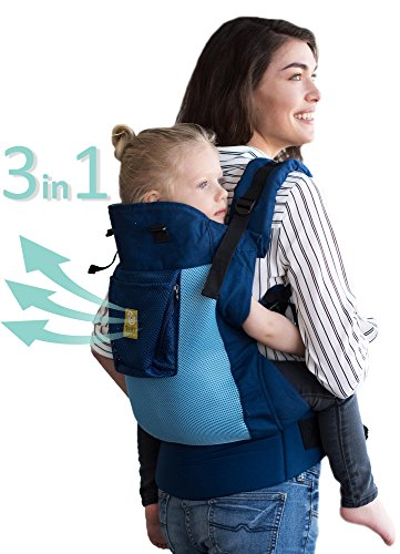 LLLbaby CarryOn Airflow 3-in-1 Ergonomic Toddler & Child Carrier, Blue/Aqua - 20 to 60 lbs
