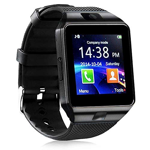 321OU Smart Watch Touch Screen Bluetooth Smart Watch Smartwatch Phone Fitness Tracker with SIM SD Card Slot Camera Pedometer Compatible iPhone iOS Samsung LG Android Men Women (Black)