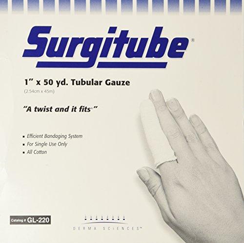Surgitube Tubular Gauze, White, 1' x 50 yds, Each