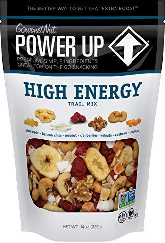 Power Up Trail Mix, High Energy Trail Mix, Keto-Friendly, Paleo-Friendly, Non-GMO, Vegan, GlutenFree, No Artificial Ingredients, Gourmet Nut, 14 oz Bag