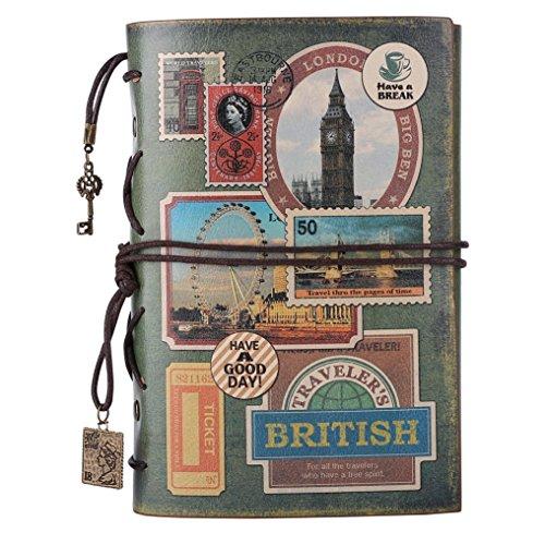 Leather Journal Notebook, MALEDEN Spiral Bound Traveler Notebook for Women Men Thanksgiving Refillable Daily Planner Sketchbook Diary with Zipper Pocket
