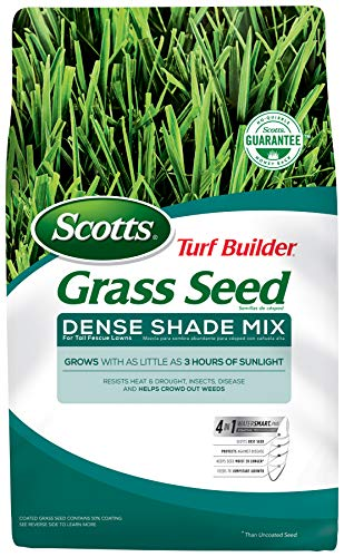 Scotts Turf Builder Grass Seed - Dense Shade Mix for Tall Fescue Lawns, 3-Pound