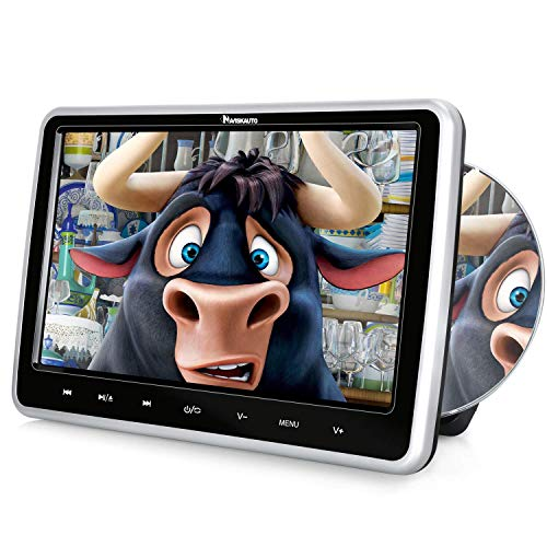 NAVISKAUTO Car DVD Player with Headrest Mount Inhalation Drive Support Sync Screen AV in & Out USB SD Last Memory