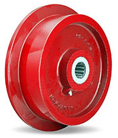 Single Flanged Track Wheel 10' Diameter x 2-1/2' Face x 3-1/4' Hub Length with 1-1/4' Roller Bearing