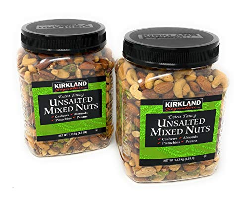 Kirkland Signature Extra Fancy Unsalted Mixed Nuts, 40 Ounces (2 Pack)