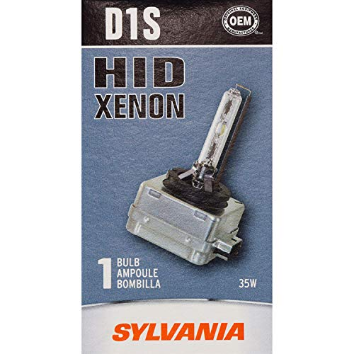 SYLVANIA - D1S Basic HID (High Intensity Discharge) Headlight Bulb - High Performance Bright, White, and Durable Lamp (Contains 1 Bulb)