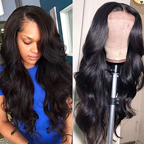 ALLRUN Body Wave Lace Wig Human Hair Wigs Body Wave Brazilian Human Hair 4x4 Lace Front Wig For Women Pre Plucked with Baby Hair Natural Hairline (14 inch)