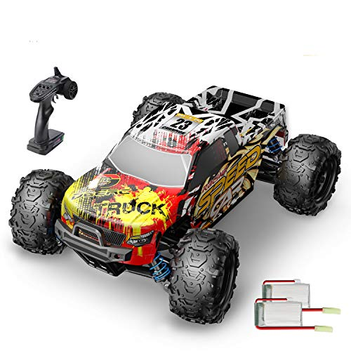 DEERC RC Cars 9310 High Speed Remote Control Car for Adults Kids 30+MPH, 1:18 Scales 4WD Off Road RC Monster Truck,Fast 2.4GHz All Terrains Toy Trucks Gifts for Boys,2 Batteries for 40Min Play