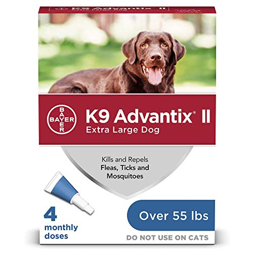 K9 Advantix II Flea and Tick Prevention for Extra-Large Dogs 4-Pack, Over 55 Pounds