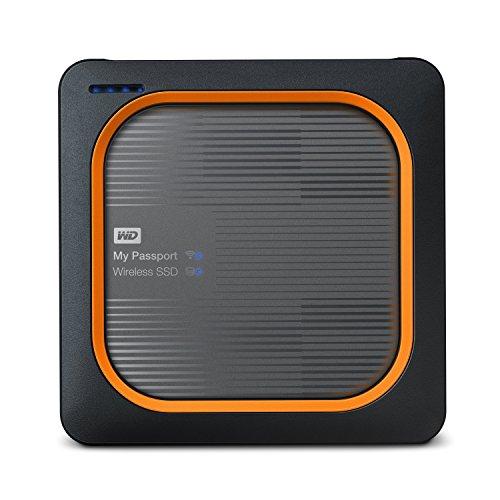 WD 500GB My Passport Wireless SSD External Portable Drive, WiFi USB 3.0, Up to 390 MB/s - WDBAMJ5000AGY-NESN