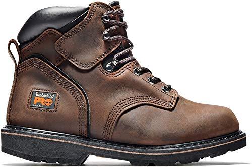 Timberland PRO Men's Pitboss 6' Steel-Toe Boot, Brown , 12 D - Medium
